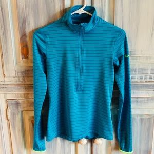 Nike Striped Half Zip Pullover